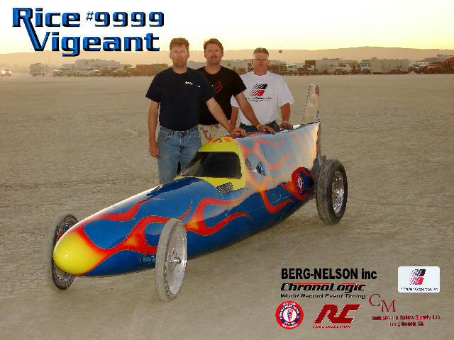 Rice Vigeant Racing Bellytank Lakester 9999 at El Mirage Lakebed